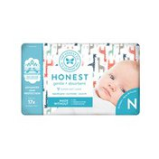 The Honest Company Honest Diapers, Multicolored Giraffes, NB