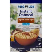 Food Lion Oatmeal, Lower Sugar, Maple & Brown Sugar, Instant