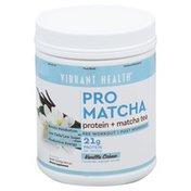 Vibrant Health Pro Matcha, Protein + Matcha Tea, Vanilla Creme
