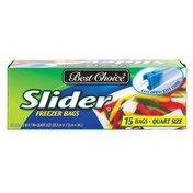 Best Choice Zip Slider Quart Freezer Bags