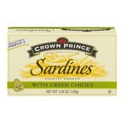 Crown Prince Sardines With Green Chilies