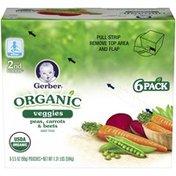Gerber Organic 2 Nd Foods Veggies Peas Carrots & Beets Baby Food