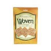 Meijer Woven WHEATS BAKED WHOLE WHEAT CRACKERS