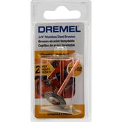 Dremel Brushes, Stainless Steel, 530, 3/4 Inch, 2 Pack