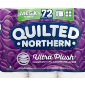 Quilted Northern Bathroom Tissue, Unscented, Mega Roll, 3-Ply