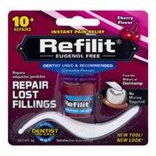 Refilit Eugenol Free Repair Lost Fillings Instant Pain Relief Cherry