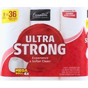 Essential Everyday Bathroom Tissue, Ultra Strong, Mega Roll, 2-Ply