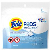 Tide PODS Free & Gentle HE Turbo Laundry Detergent Pacs 5-load Bag Laundry