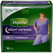 Depend Night Defense Incontinence Overnight Underwear for Women