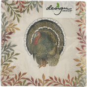 Design Design Beverage Napkins, Foliage and Feathers, 3-Ply