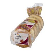 Ahold Pre-Sliced Bagels Maple - 6 CT