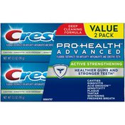 Crest Advanced Cleaning Crest Pro-Health Advanced Active Strengthening Toothpaste, 3.5 oz TWIN Dentifrice