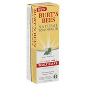 Burt's Bees Toothpaste, Natural Fluoride-Free, Multicare, Peppermint Flavor