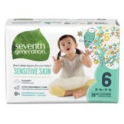 Seventh Generation Baby Diapers With Animal Prints Size 6, 35+ Lbs