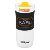 Cool Gear Kafe Single Wall Ceramic Travel Mug Silicone Band