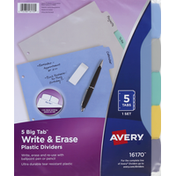 Avery Dividers, Plastic, Write & Erase