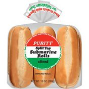 Purity Split Top Sliced Enriched Submarine Rolls