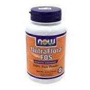 Now Nutraflora Fos Prebiotic Fiber Dietary Supplement Pure Powder