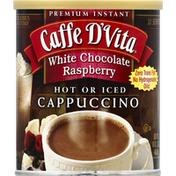 Caffe D'Vita Cappuccino, Premium Instant, White Chocolate Raspberry