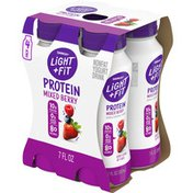 Light + Fit Nonfat Mixed Berry Protein Smoothie Yogurt Drink