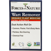 Forces of Nature Wart Remover, Organic, Extra Strength