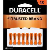 Duracell Batteries, Zinc Air, 13, 8 Pack