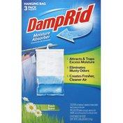 DampRid Moisture Absorber, Fresh Scent, Hanging Bag, 3 Pack