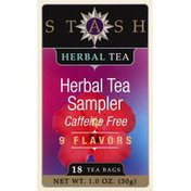 Stash Tea Herbal Tea, Sampler, Caffeine Free, Bags
