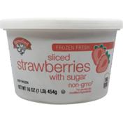 Hannaford Sliced Strawberries Tub