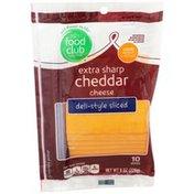 Food Club Extra Sharp Cheddar Deli-Style Sliced Cheese