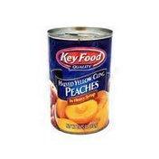 Key Food Peach Halves in Heavy Syrup