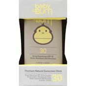 Baby Bum Sunscreen Stick, Premium Natural, Broad Spectrum SPF 30