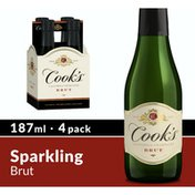 Cook's California Champagne California Champagne Brut White Sparkling Wine Mini Bottles