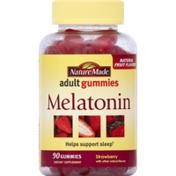 Nature Made Melatonin, Adult Gummies, Strawberry
