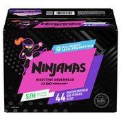 Ninjamas Nighttime Bedwetting Underwear Girl Size S/M