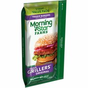Morning Star Farms Veggie Burgers, Plant Based Protein, Grillers Original