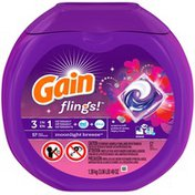 Gain flings! plus Aroma Boost Laundry Detergent Pacs, Moonlight Breeze, 57 Count
