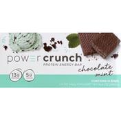 Power Crunch Protein Energy Bar, Original, Chocolate Mint