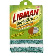 Libman Mop Refill, Microfiber, Wet & Dry