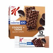 Kellogg's Special K Pastry Crisps, Breakfast Bars, 100 Calorie Snacks, Cookies'N'Creme