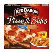 Red Baron Pizza & Sides Pepperoni Pizza & Breaded Mozzarella Sticks