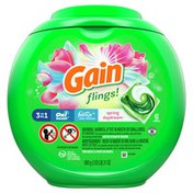 Gain Flings Liquid Laundry Detergent Pacs, Spring Daydream Scent