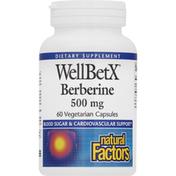 Natural Factors Berberine, 500 mg, Vegetarian Capsules