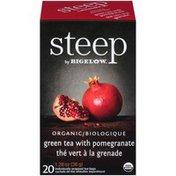 Bigelow Organic Green Tea with Pomegranate Bigelow Steep Organic Green Tea with Pomegranate Tea Bags