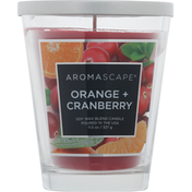 Aromascape Candle, Soy Wax Blend, Orange + Cranberry