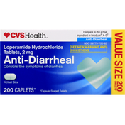 CVS Health Loperamide Hydrochloride Tablets, Anti-Diarrheal
