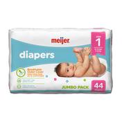 Meijer Premium Baby Diapers Size 1