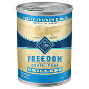 Blue Buffalo Freedom Grillers Grain Free Natural Adult Wet Dog Food, Hearty Chicken