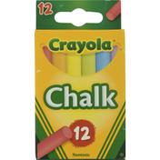 Crayola Chalk Sticks, Colored, Nontoxic