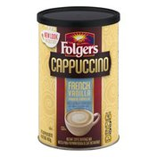 Folgers Cappuccino French Vanilla Instant Coffee Beverage Mix